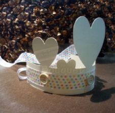 Paper crown with buttons for kids (set of 12) / Κορώνα χάρτινη με κουμπιά για παιδιά (σετ των 12)